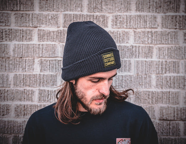 Sonnies Outside - Navy Blue Beanie Boggin Cap Model View
