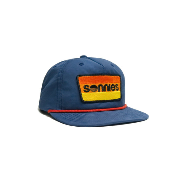 Sonnies Outside Navy Blue Snapback Grandpa or Dad Hat Cap