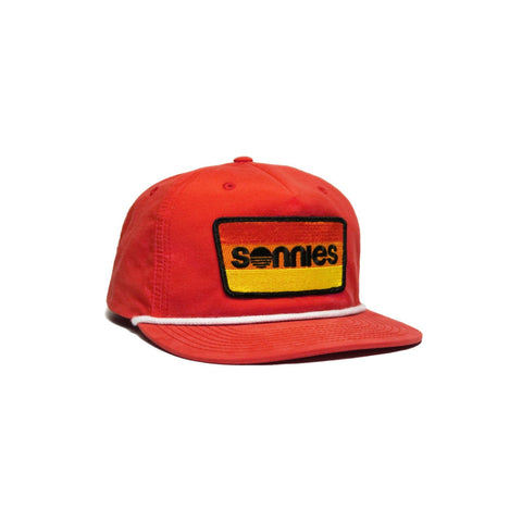 Sonnies Outside - Red Snapback Grandpa or Dad Hat Cap