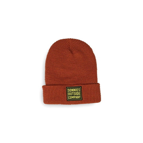 Sonnies Outside Camping Clothes - Rust Red Beanie Boggin Cap