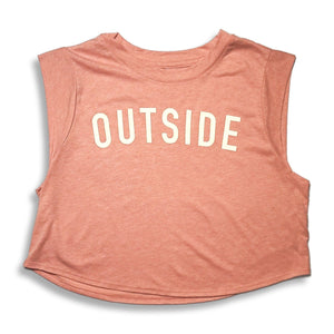 Sonnies Outside women's peach crop top.