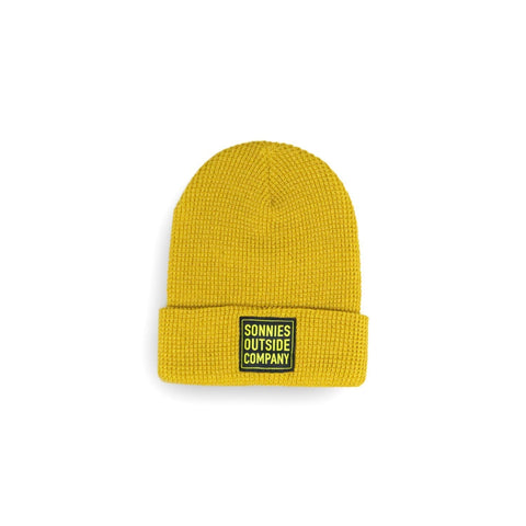 Sonnies Outside Camping Clothes - Yellow Beanie Boggin Cap