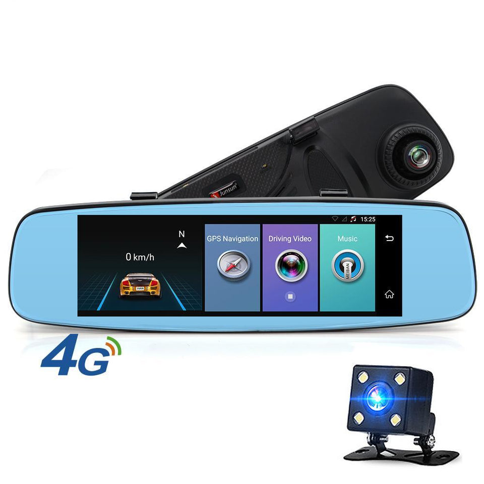 7.86 GPS Navigation 4G Android 5.1 Car DVR Rearview Mirror FHD1080P Dashcam Car DVRS Video Recorder Dual Camera GPS