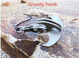 Multifunctional Magnetic Stainless Steel Folding Climbing Claw Survival Outdoor Gravity Hook Carabiner