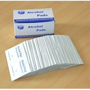 100pcs Disposable Sterilized Alcohol Disinfected Cotton Sheet Pads for Medical Emergency First Aid Situation