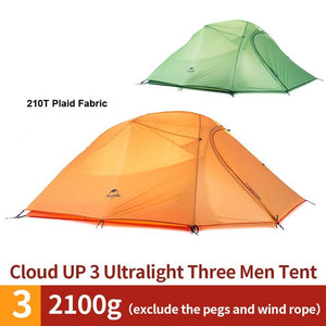 3 Person 20D Silicone Fabric Waterproof Camping Tents