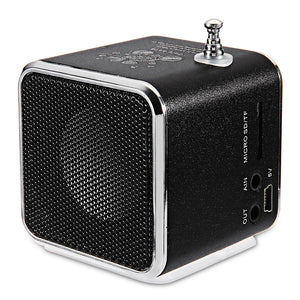 TD-V26 Portable Radio FM Micro SD/TF Music Player Digital LCD Display Mini Speaker Suitable for Indoor Outdoor Use