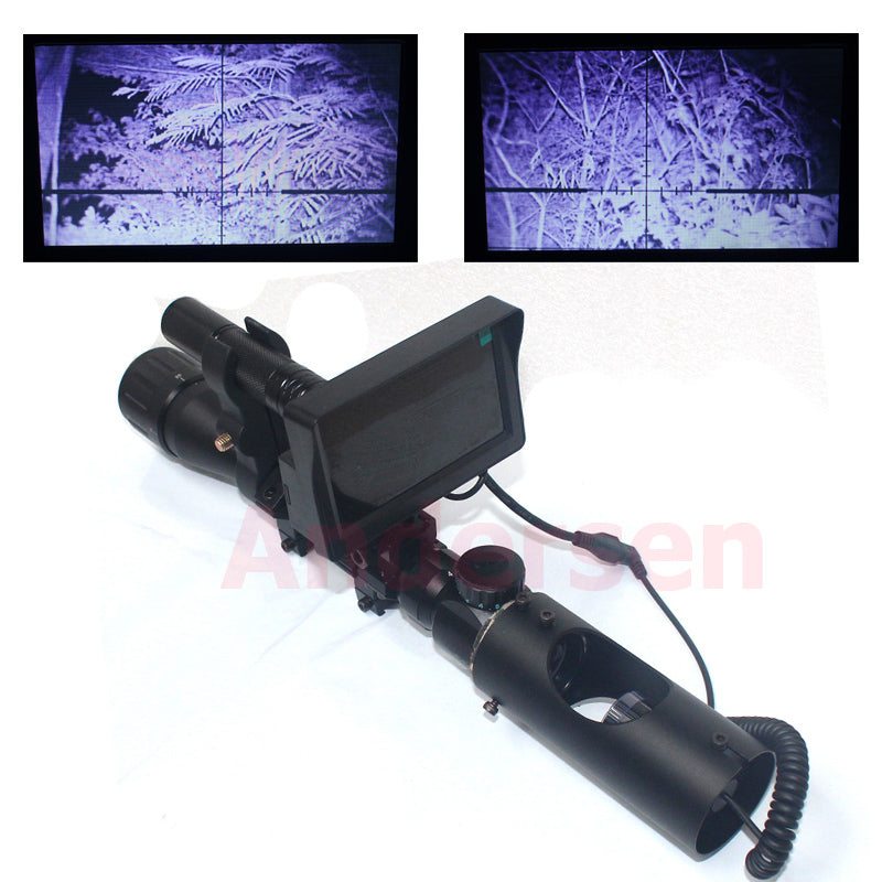 Outdoor Hunting Tactical Digital Infrared Night Vision With LCD And Flashlight For Riflescope