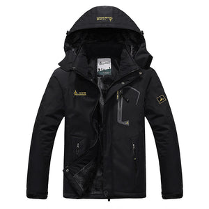 Winter Inner Fleece Waterproof Outdoor Sport Warm Coat Hiking Camping Trekking Skiing Jackets For Men