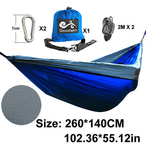 Portable 2 Person Outdoor Double Camping Hammock-Tent 300*200cm Parachute Cloth