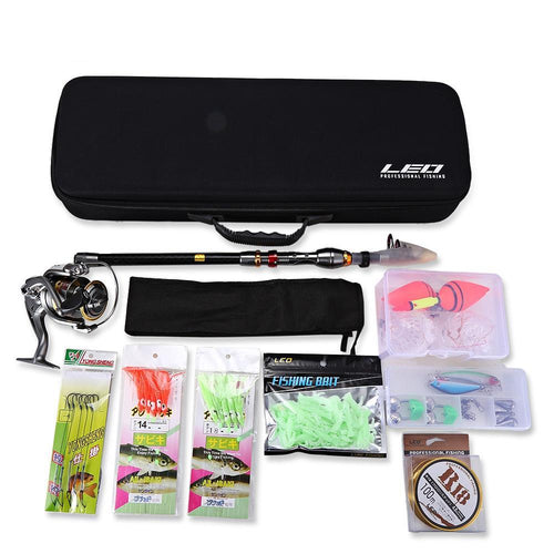 2.1/2.4/2.7/3/3.6M Telescopic Fishing Rod Spinning Reel Combo Full Kit Outdoor Pole Set Fish Line Lure Hook with Bag