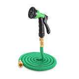 25FT-100FT Garden Hose Expandable Flexible Plastic Handy Pipe With Spray Gun Watering Double Layer Latex Core