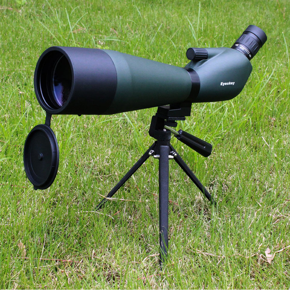 20-60x80 Angled Spotting Scope Eyeskey Angled Zoom Hunting Monocular Waterproof Telescope