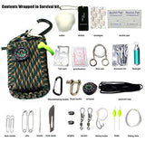 29 In 1 Sos Emergency Equipment Emergency Bag Field Survival Box Self-help  Equipment For Camping Hiking Saw/fire
