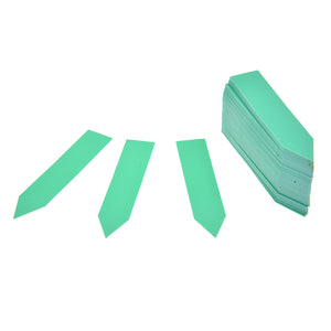 100Pcs/Set Plastic Plant Seed Labels Pot Marker Nursery Garden Stake Tags 10cm x 2cm (Green)