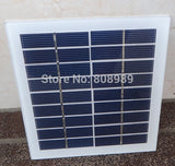 2W 9V Solar Cell Glass Laminated Polycrystalline Solar Panel Module DIY Solar Charger 135*125MM