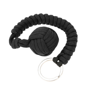 Military Self-Rescue Survival Bracelet Emergency Paracord Rope Parachute Key Ring Kit Camping Hiking