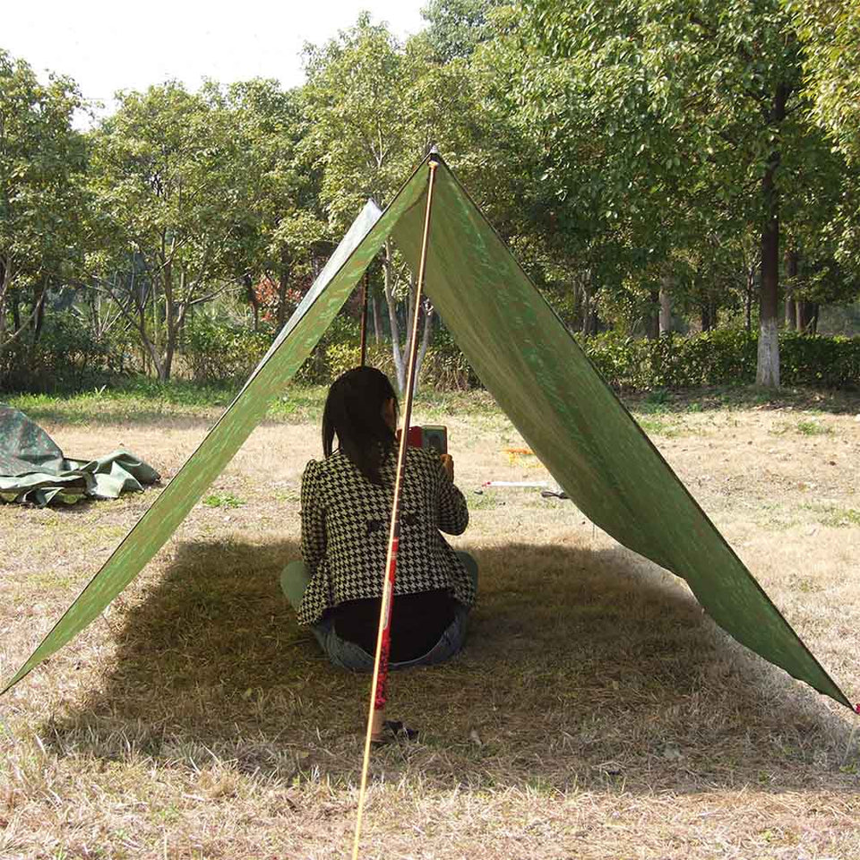 3*3m Camouflage Camping Mat Awning Beach Sun Shelter Outdoor Waterproof Windproof Tent