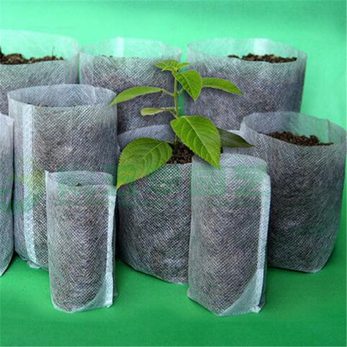 100pcs-pack Nursery Pots Seedling-Raising Bags 8*10cm Garden Environmental Protection 8*10 Size