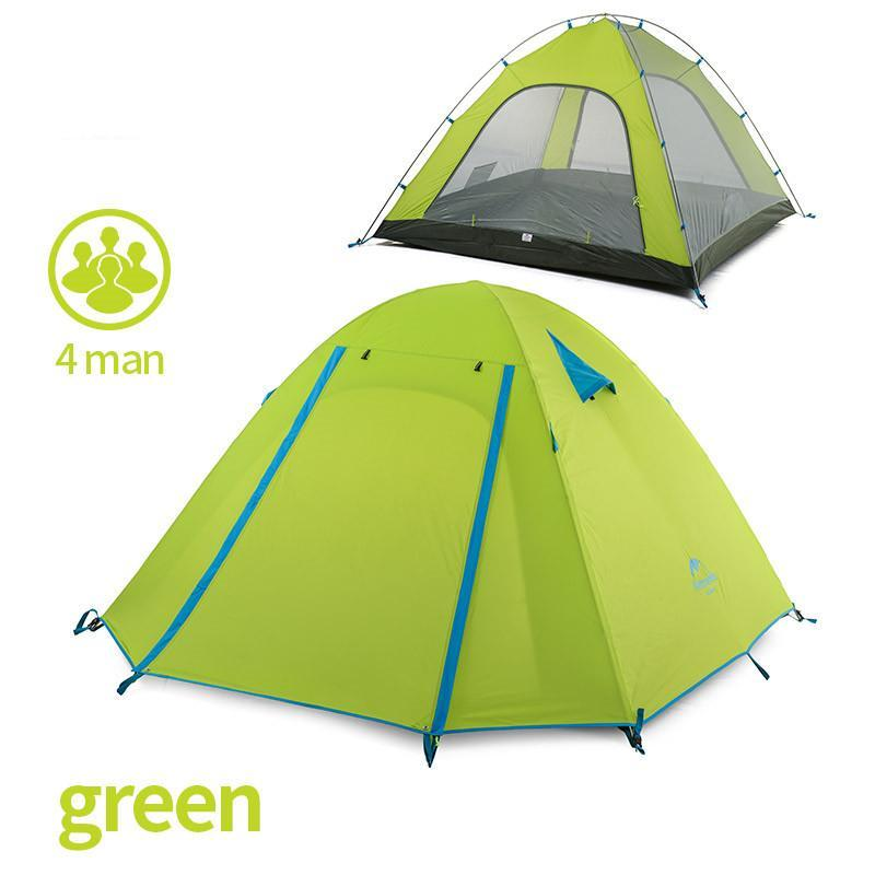 P Series Classics Tent 210T Fabric For 4 Person 215*215*130cm Double Layer For Outdoor Camping Hike Travel