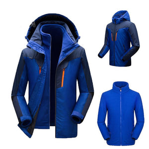 Outdoor Hiking 3 in 1 Men Women Fleece Waterproof Heated Coat Jacket For Sport Hunting Winter