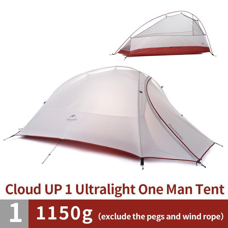 1.1KG 1 Person Dome Double-layer Outdoor Camping Ultralight 20D Silicone Tent