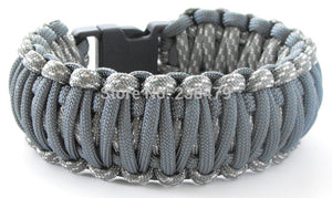 Paracord Survival Bracelet 550lb Capacity 6 Wrist Sizes-12 Plus Colors-Reversable