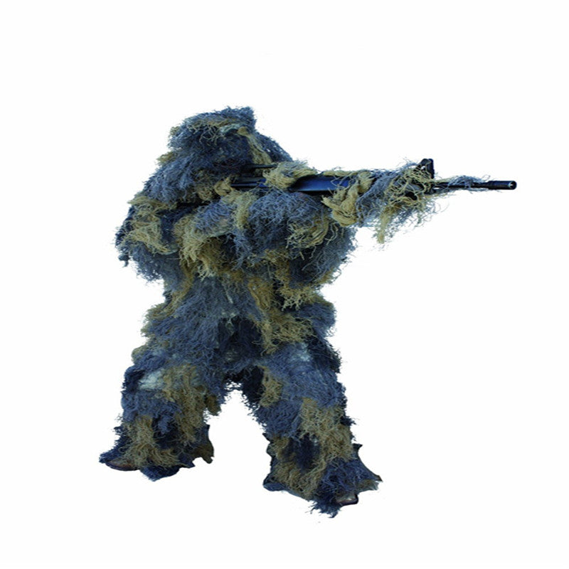 Hunting Camouflage Stand Gun With Tree Rope & Elastic Synthetic Fiber Ghillie Suit