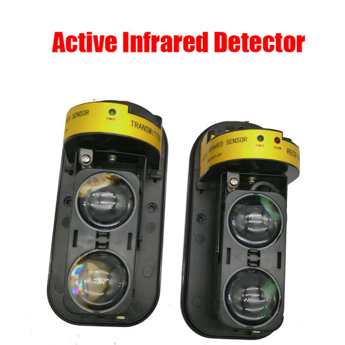 Active Infrared IR Sensor Barrier Detector Photoelectric Dual Beam Perimeter Fence Window Outdoor Intrusion Alarm