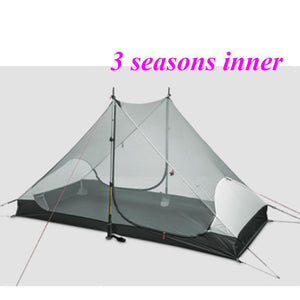 High Quality 3F Gear 2 Persons 3 Seasons And 4 Seasons Inner 2 Outdoor Camping Tent