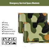 3pcs Camouflage Emergency Survival Thermal Blankets For Outdoor Camping