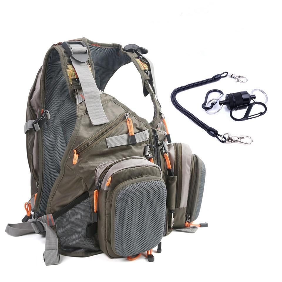 Outdoor Sports Adjustable Belt Fishing Vest With Bags