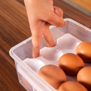 24 Grid Egg Box Convenient Storage Multifunctional Double Layer Food Container Organizer