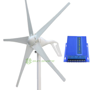 400W 3 Or 5 Blades Wind Mill Small Low Start Up  Turbine Power Generator 12V/24V With Wind Controller