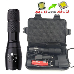 Z10 Portable Flashlight For Self Defense A100 LED lantern 5 Modes Zoomable 4000LM XML-T6/L2