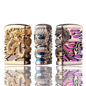 Pure Copper Kerosene Hollowed Out Dragon Personality Windproof Lighter