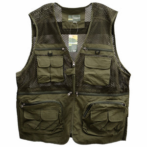 Sport Outdoor Vest Men Workwear Vest Multi-pockets Professional Photography Fishing Jacket