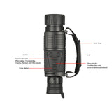 5x40 Infrared Night Vision Telescope Military Tactical Powerful Monocular HD Digital Hunting Telescope Video Recorder