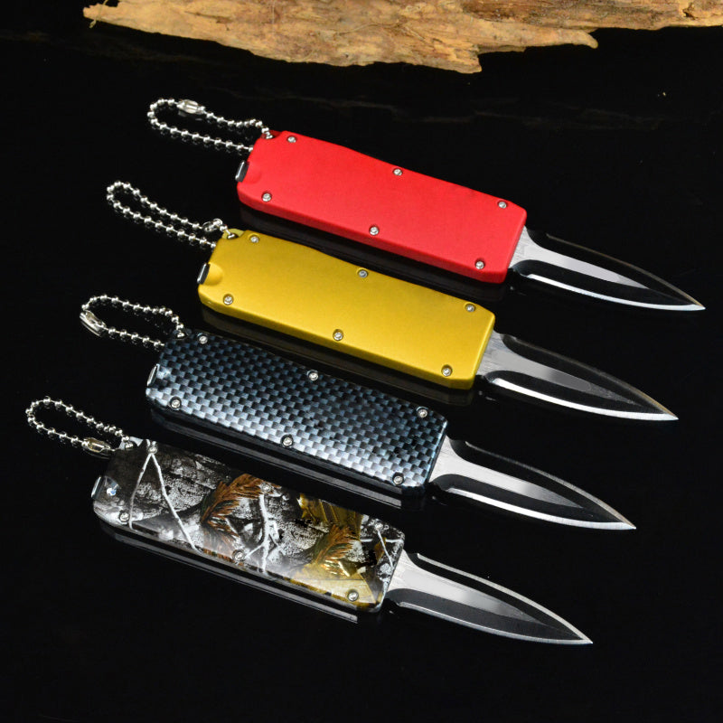 FBIQQ pocket Wilderness survival outdoor knife Self-defense mini knife Tiny portable Multi folding knife