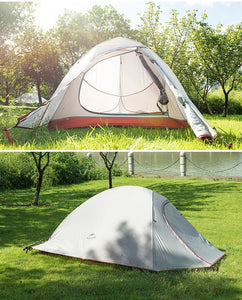 2 Person Tent Ultralight 20d Silicone Fabric Double-layer Camping Outdoor