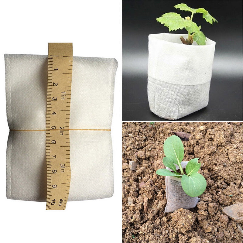 100pcs Nursery Seedling-Raising Environmental Bags Non-woven Fabric Garden Supplies Arden Pots