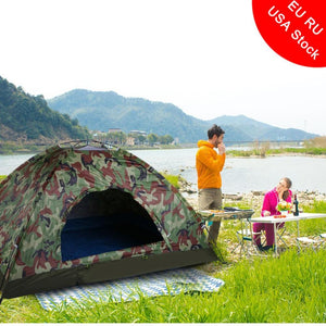 Outdoor Camping Portable Single Layer Camouflage Tent Waterproof Anti-mosquito Anti UV For 2 Person