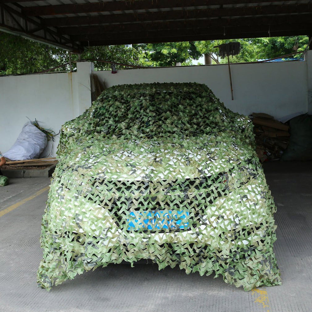 Camouflage Army Military outdoor Car Tent Hunting Blinds Long Cover Conceal Protective Net Cover