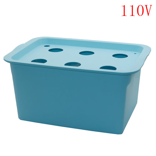 6 Holes Hydroponics Seedling Plants And Flowers Tray 220v/110v Box Set Nursery Pots Bubble Garden