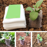 100pcs Nursery Pots Seedling Raising Non-woven Fabric Bags