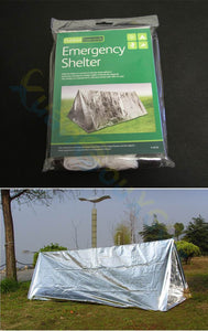 Disposable Emergency Outdoor Ultralight Portable Camping SOS Shelter Mylar Emergency Tube Tent