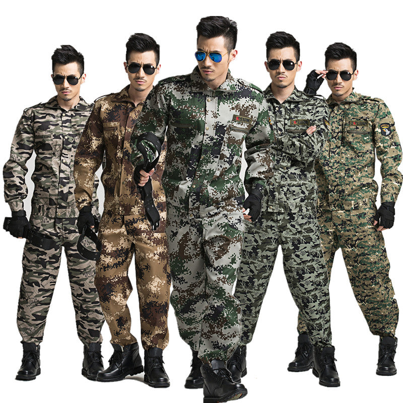 Jacket + Pants Outdoor Men's Military Tactical Camouflage Army Uniform For Hiking Hunting Airsoft Clothes