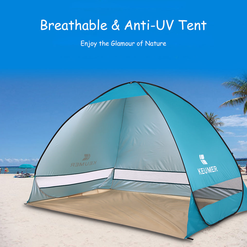 Automatic Beach Tent 2 Persons UV Protection Shelter For Outdoor Camping Summer 200*120*130cm