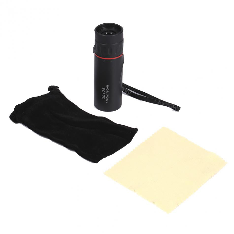 30x25 HD Mini Portable Hunting Monocular Focus Optical Telescope Night Vision Waterproof Zoomable 10X Scope