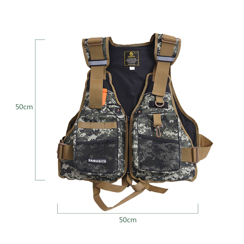 Fly Vest Backpack Quick-dry Mesh With Mutil-pocket Jacket Lifesafty Waistcoat For Outdoor Camping Fishing